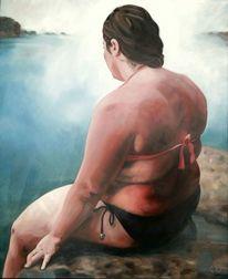 Strand, Körper, Figuration, Mädchen