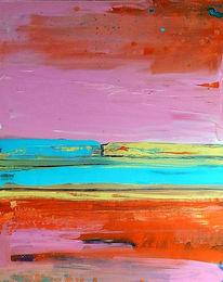 Blau, Malerei, Gelb, Abstrakt