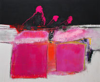 Modern, Kunstwohnen, Pink, Abstrakt