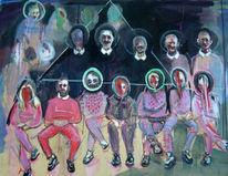 Dreieck, Menschen, Teenager, Gruppe