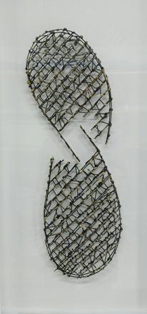 Figural skulpturales drahtgeflecht, Mischtechnik, Surreal, Plastik