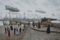Schiff, Kanone, Luftschiff, Luftschiffe