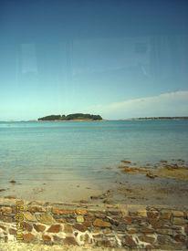 Landschaft, Meer, Ebbe, Bretagne