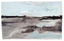 Horizont, Pfütze, Gewässer, Gras