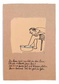 Laufen, Jesus, Wasser, Zeichnungen