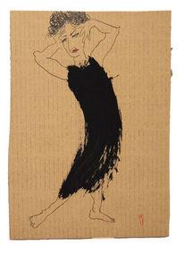 Haltung, Tanz, Kleid, Malerei