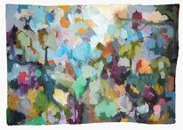 Verbindung, Impressionismus, Frühling, Malerei