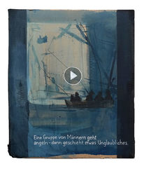 Angler, See, Meer, Malerei