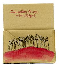 Rot, Hügel, Wild, Malerei