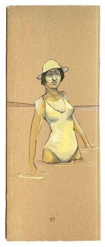 Frau, Wasser, Sonne, Zeichnungen