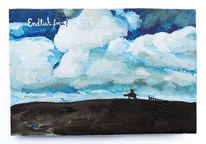Zaun, Natur, Freiheit, Malerei