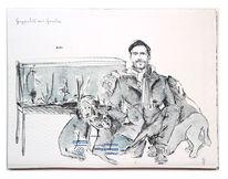 Garnelen, Hund, Katze, Zeichnungen