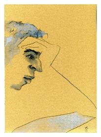 Brief, Lesen, Konzentration, Zeichnungen