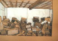 Kiste, Karton, Decke, Lager
