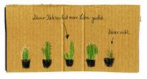Stachel, Kaktus, Topf, Leben