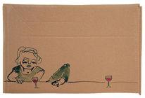 Mann bücken, Frau, Tresen, Rotwein