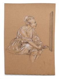 Film, Flachbildschirm, Watteau, Zeichnungen