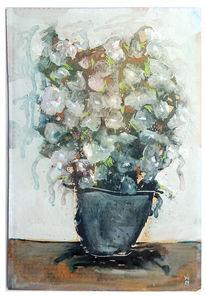 Weiß, Blumen, Erde, Malerei