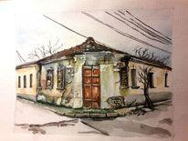 Straße, Architektur, Realismus, Winter