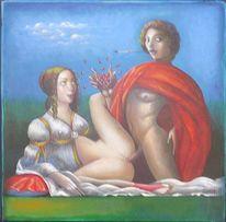 Acrylmalerei, Akt, Botticelli, Malerei