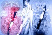 Messer, Frau, Digital, Digitale kunst
