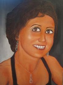 Frau, Ölmalerei, Malerei, Menschen