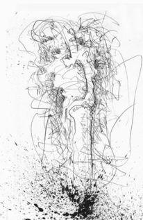 Tusche, Bleistiftzeichnung, Zeichnung, Auferstehung
