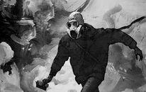 Terror, Maske, Acrylmalerei, Demonstration