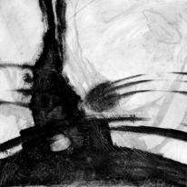 Weiß, Keller, Acrylmalerei, Schwarz weiß