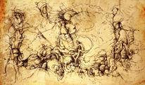 Scheinbar, Tuschezeichnung, Zeichnungen