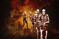 Tod, Zerstörung, Terror, Skelett
