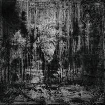 Dunkel, Spachteltechnik, Abstrakt, Acrylmalerei