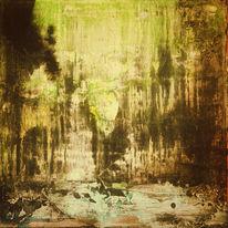 Abstrakt, Schatten, Acrylmalerei, Spachteltechnik