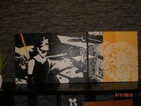 Acrylmalerei, Audrey hepburn, Malerei, Hepburn