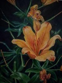 Realismus, Lilie, Ölmalerei, Pflanzen