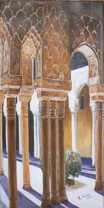 Maurische architektur, Alhambra, Schatten, Säule