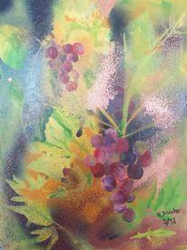 Weinrebe, Trauben, Acrylmalerei, Modern