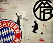 Acrylmalerei, Robbe, Trippeln, Champions league