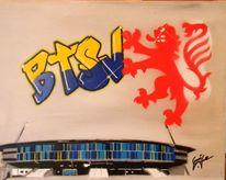 Braunschweig, Stadt, Graffiti, Eintracht