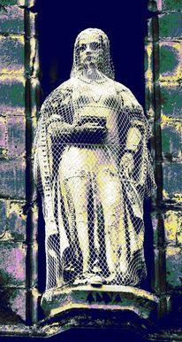 Frau, Burkha, Statue, Digitale kunst