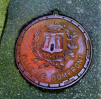 Pfundstück, Kanaldeckel, Frankreich, Fotografie