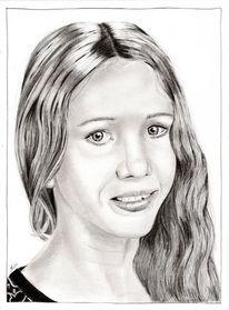 Portrait, Bleistiftzeichnung, Kohlezeichnung, Zeichenstift