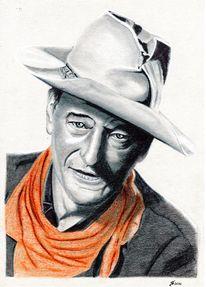 Portrait, Bleistiftzeichnung, Kohlezeichnung, Kreide