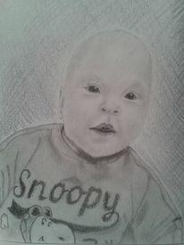 Menschen, Zeichnung, Kind, Portrait