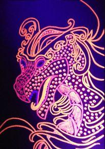 Leuchtbilder, Drache, Leuchtfarbe, Chinesisch