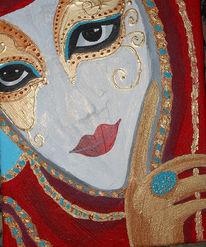 Malerei, Maske, Venedig, Maskerade