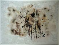 Marmormehl, Braun, Struktur, Weiß