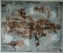Gipshaftputz, Marmormehl, Braun, Struktur