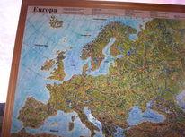 Landkarte, Europa, Menschen, Wahl