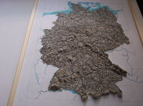 Gips, Deutschland, Landkarte, 2014